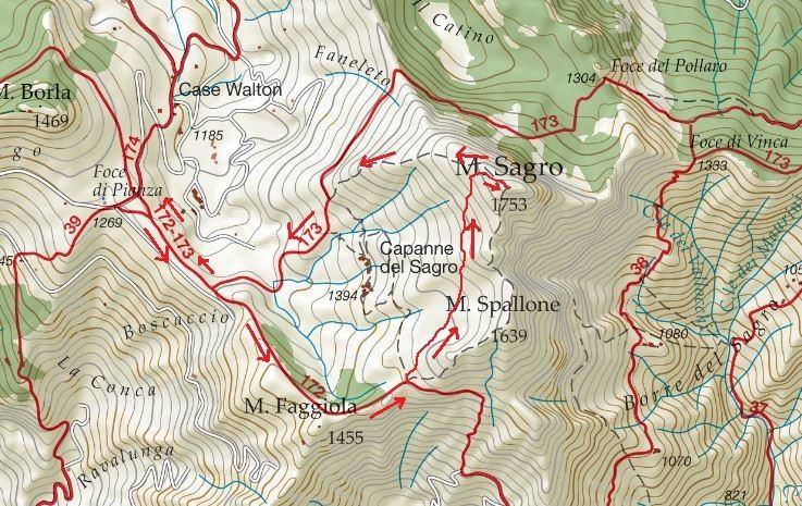 trekking invernale al monte sagro la mappa