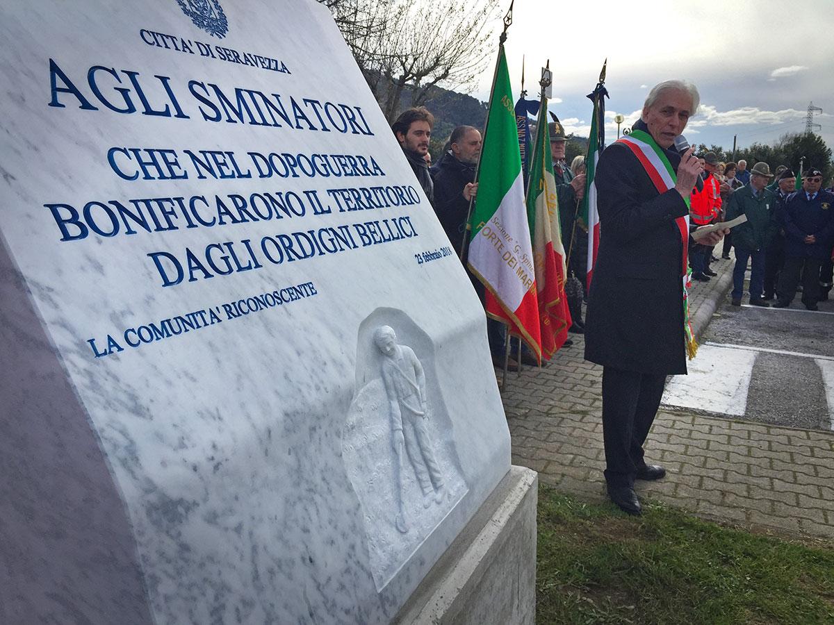 Inaugurazione del Monumento agli Sminatori a Ripa
