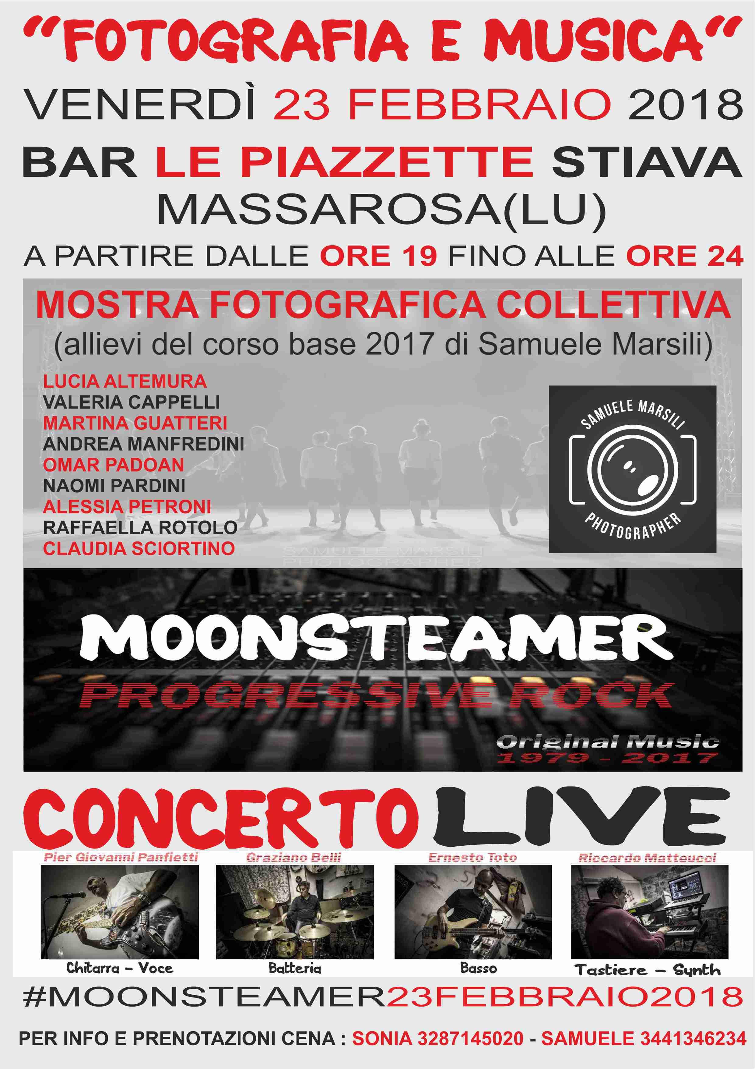 Mostra di fotografia e concerto Live dei Moonsteamer a Stiava