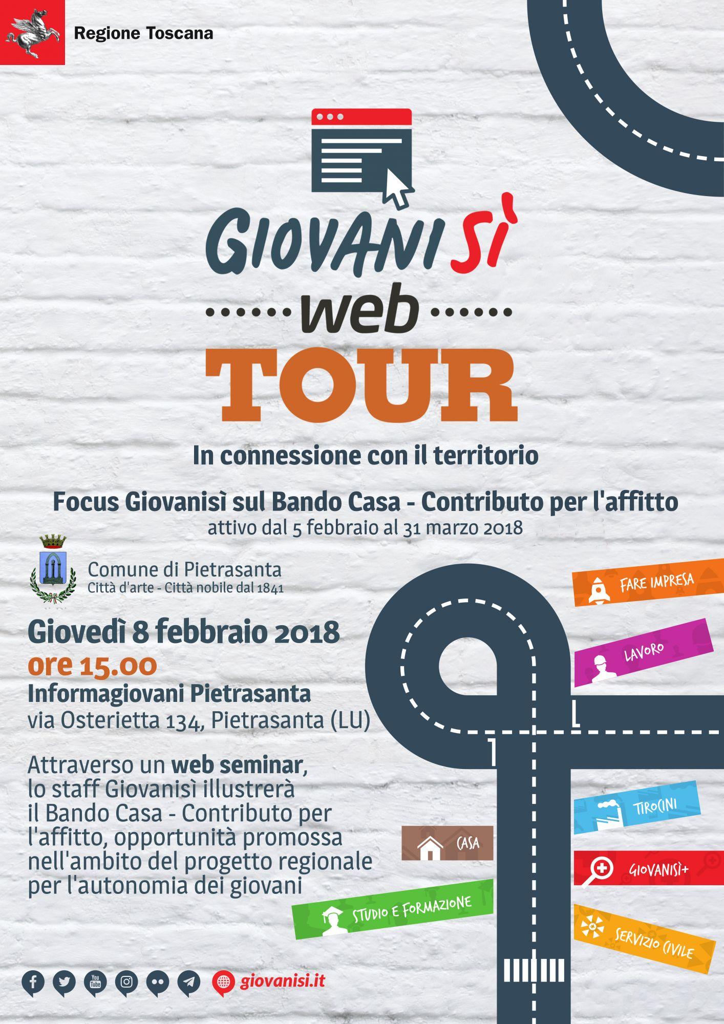 Giovanisì Web Tour, focus sul bando Casa, contributo per l'affitto