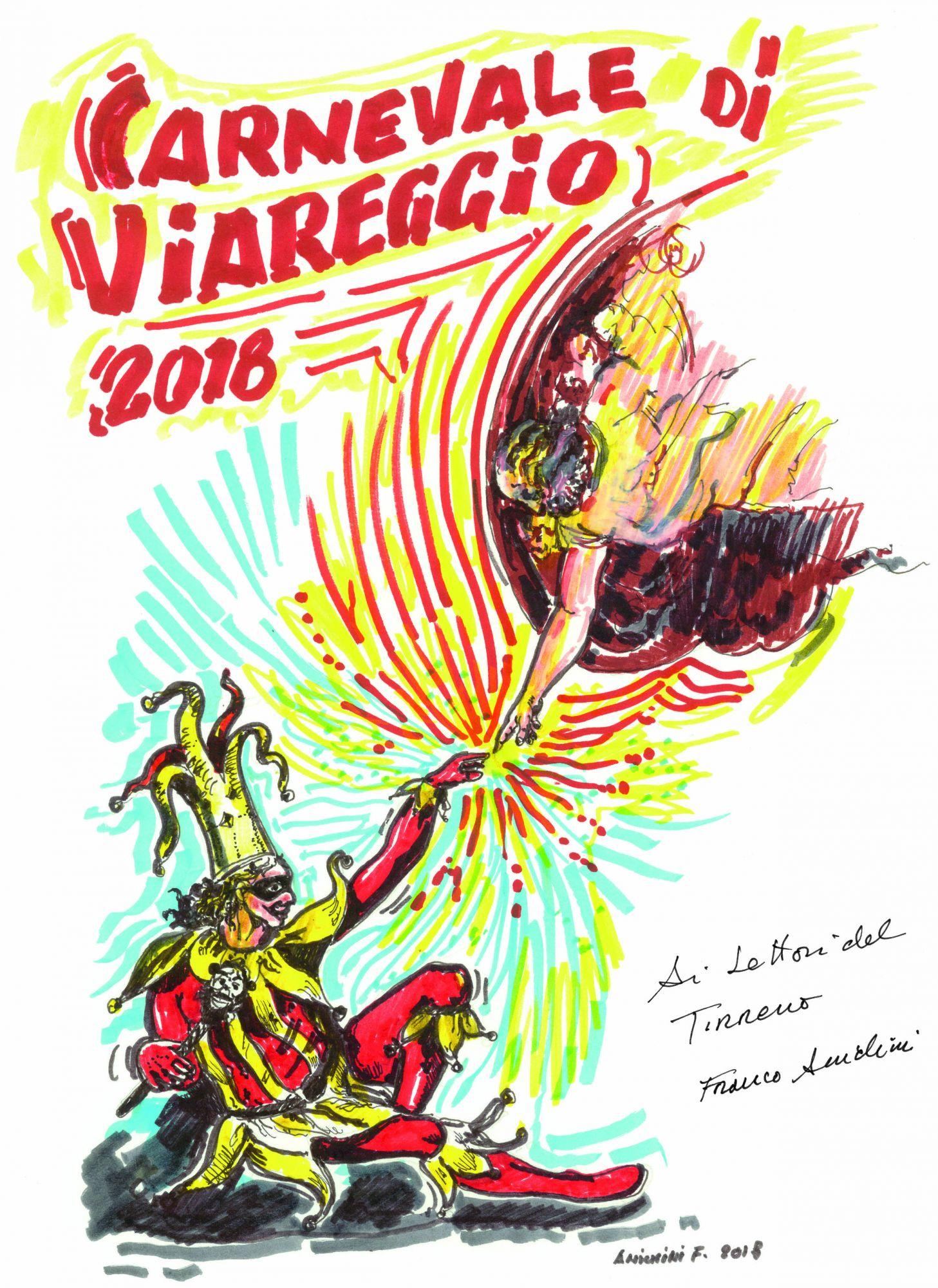 Carnevale, i poster dei carri in regalo con il Tirreno con una sorpresa firmata Anichini