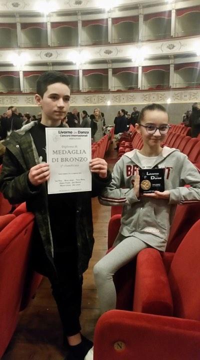 Federico Pisani e Greta Morgantini vincono il terzo posto nella gara internazionale di danza