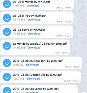 giornali gratis telegram