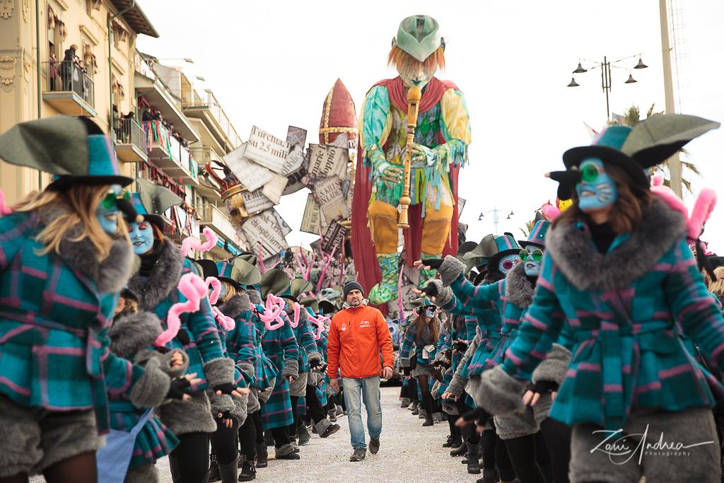 I volti del Carnevale di Viareggio 2018 nelle foto di Andrea Zani