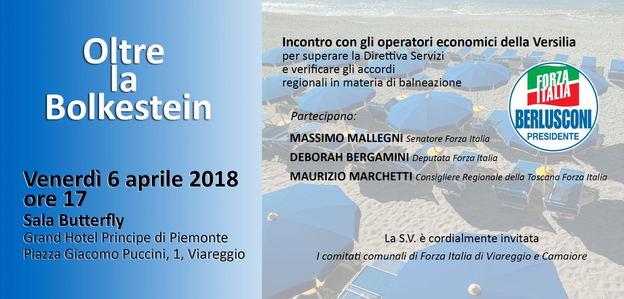 Un incontro su Bolkestein e balneazione con i parlamentari di Forza Italia