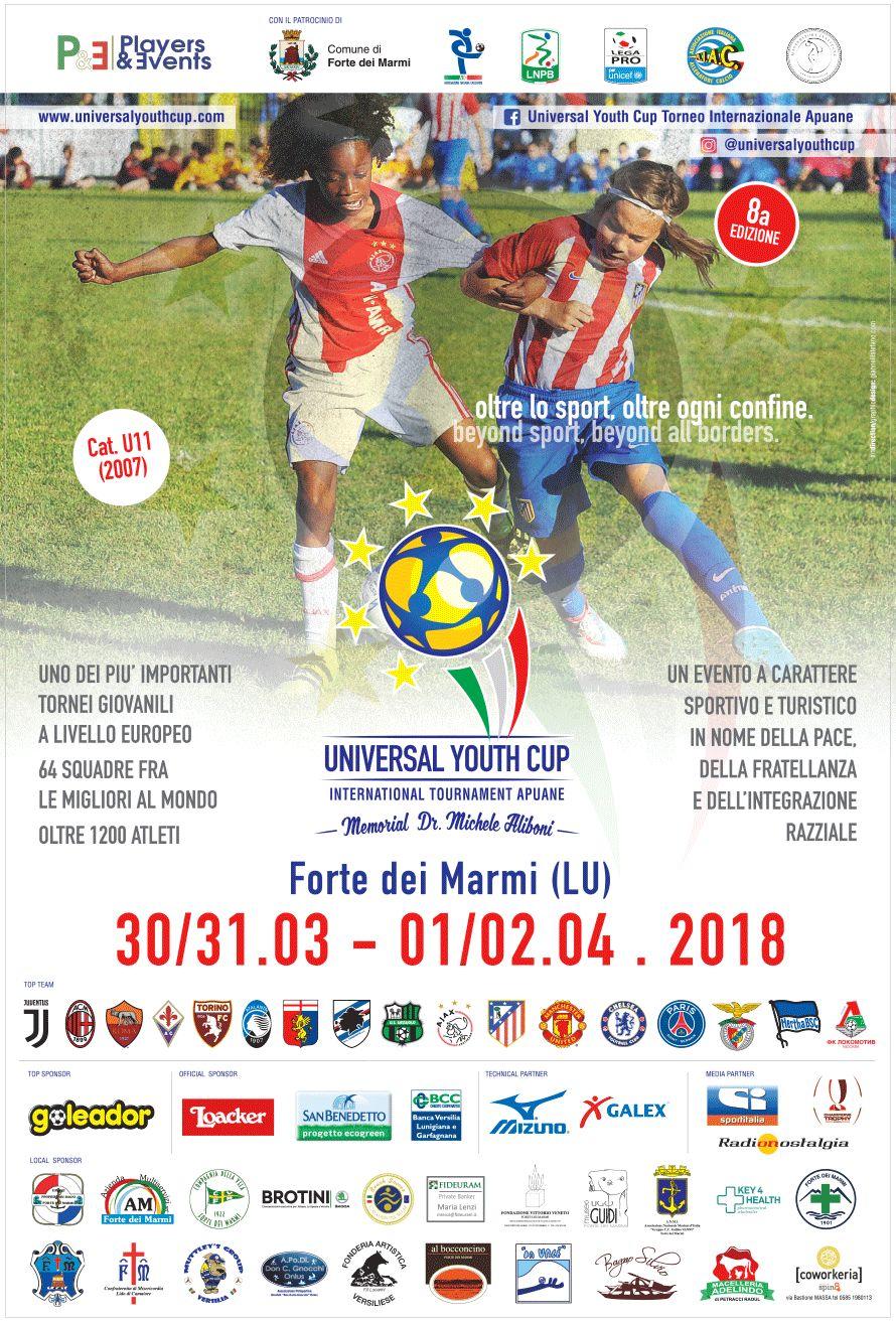 Squadre di tutto il mondo a Forte dei Marmi per la Universal Youth Cup