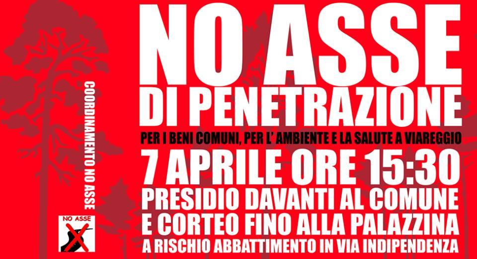 No all'asse di penetrazione, corteo e mobilitazione a Viareggio