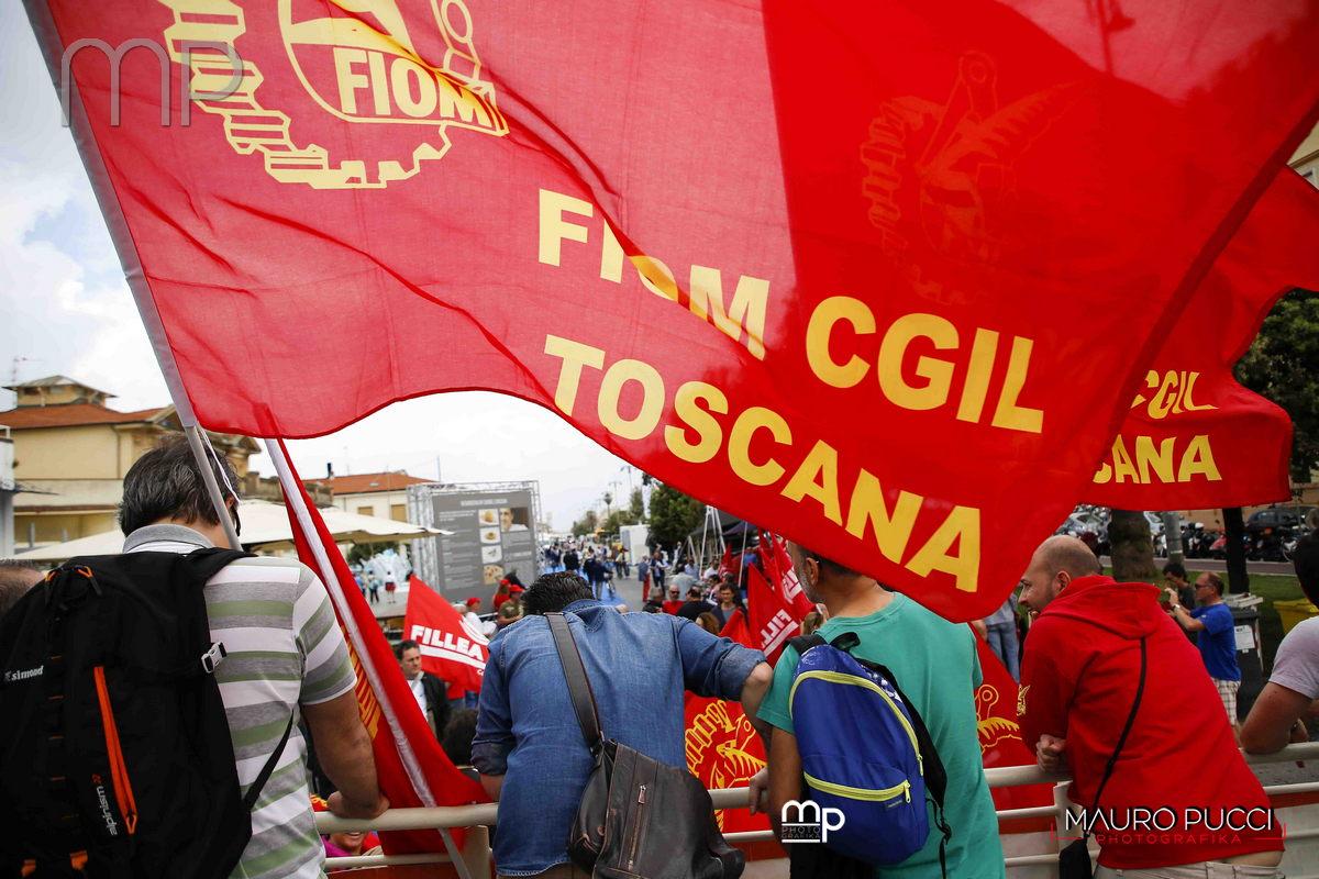 12° congresso Fiom Toscana a Viareggio con Francesca Re David