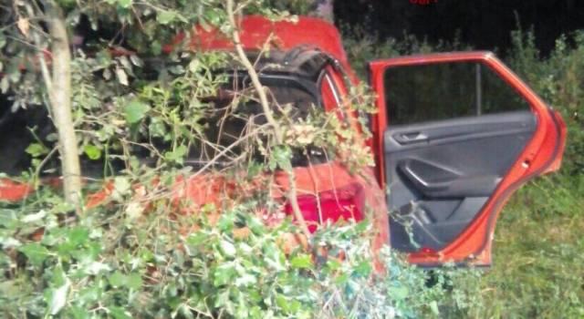 Perde il controllo dell'auto e si schianta contro un albero
