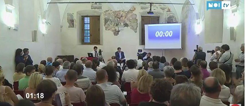 Verso il ballottaggio, su Noi Tv il faccia a faccia tra Giovannetti e Neri tra tifo da stadio e polemiche