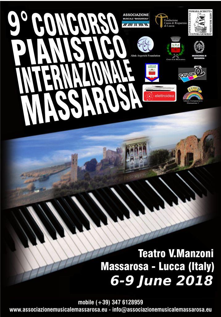 Tutto pronto per la IX edizione del Concorso Pianistico Internazionale Massarosa