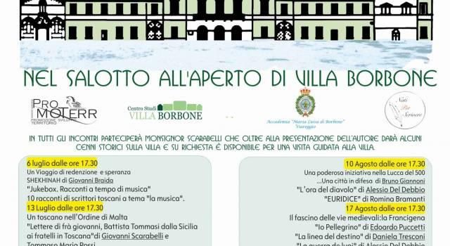 Al via i Venerdì Letterari a Villa Borbone