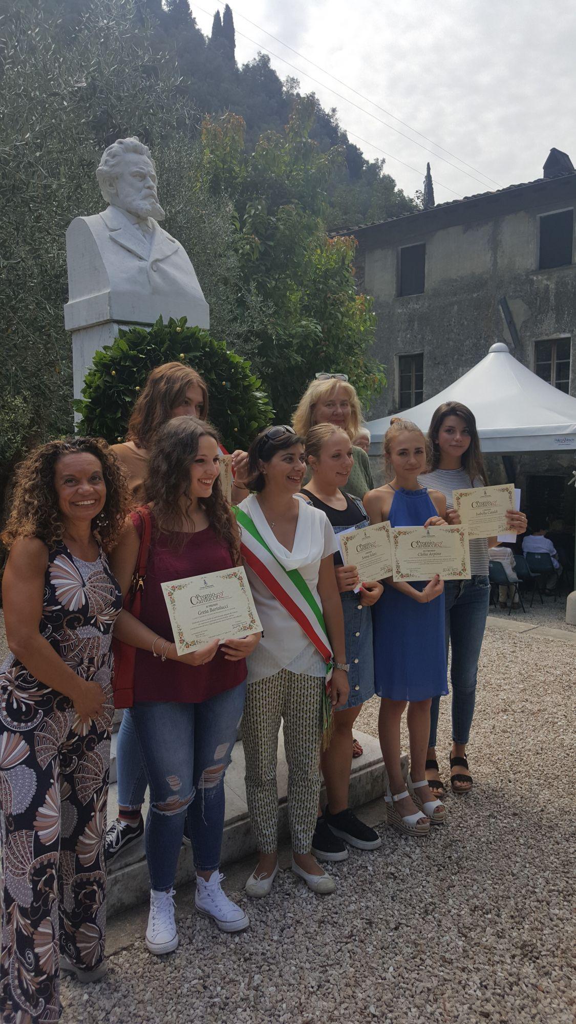 Tutte le vincitrici del Premio Carducci scuole