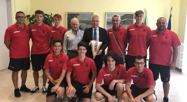 """I campioni dell'Asd Viareggio Hockey ricevuti da Del Ghingaro: """"Siete ambasciatori della città"""""""