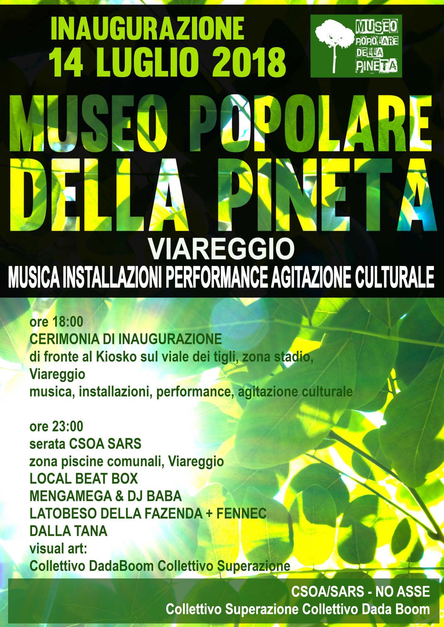 Museo popolare della pineta, sabato 14 luglio l'inaugurazione