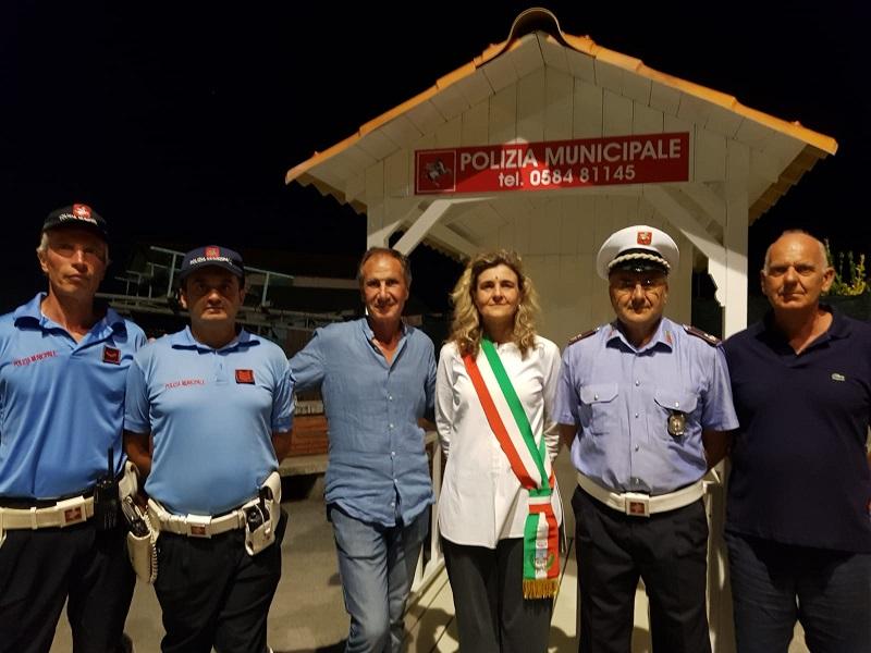 Sicurezza 2018, cabina della polizia municipale al Pontile