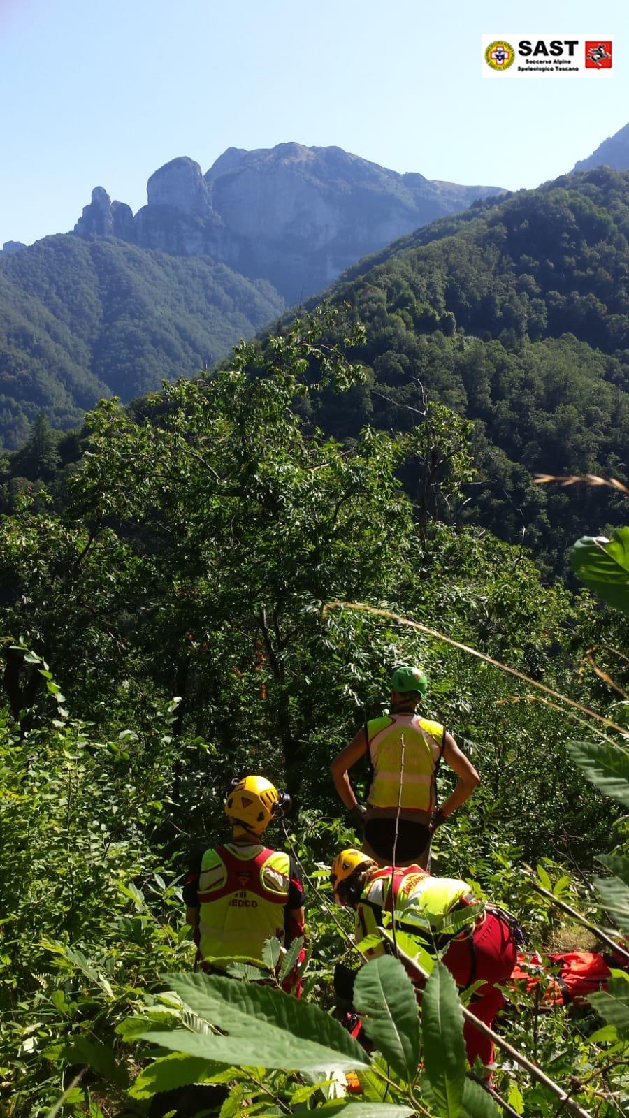 Sospetto infarto durante un'escursione, salvato dal Soccorso Alpino