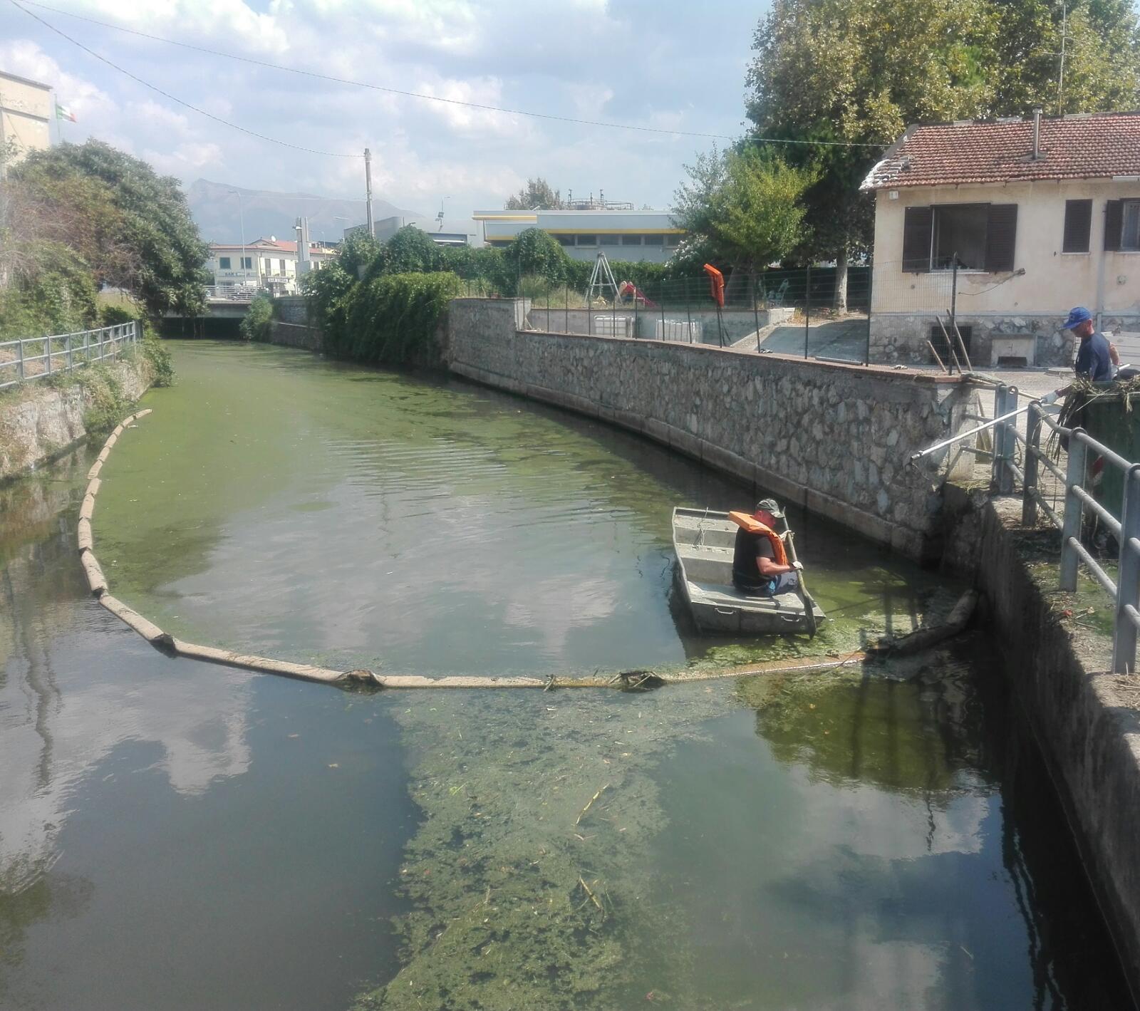 Fossa Farabola e Abate, al via la rimozione delle alghe
