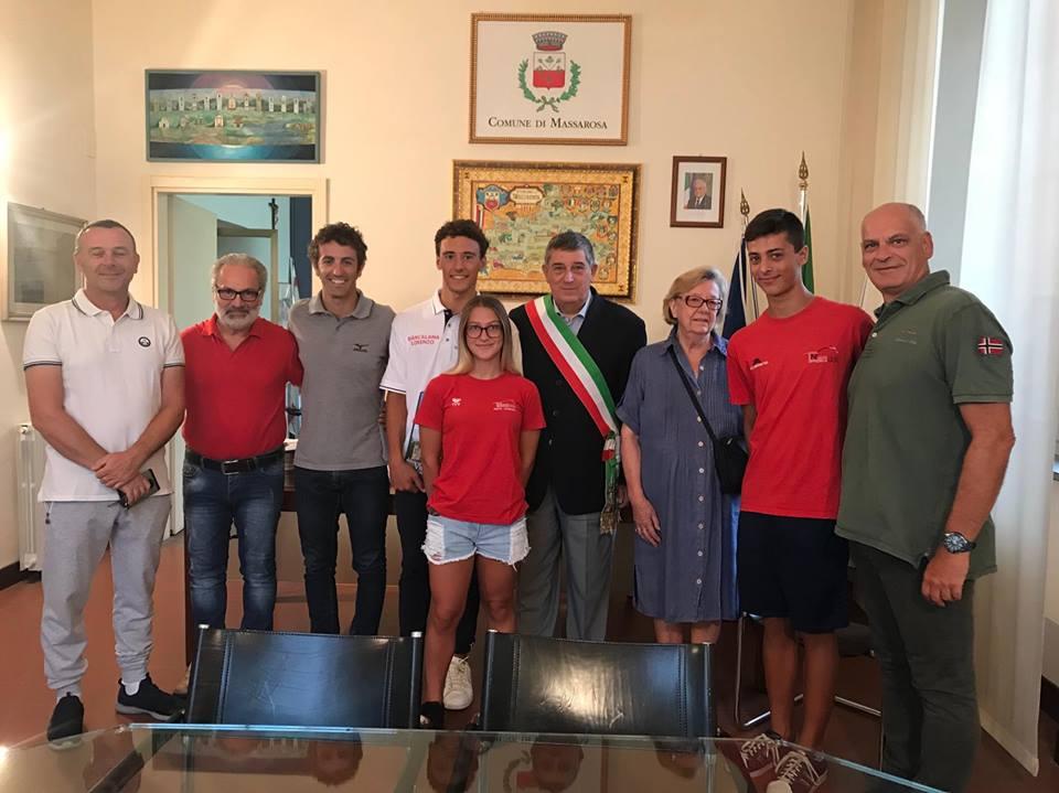 Nuoto, Lorenzo Biancalana in visita a Massarosa
