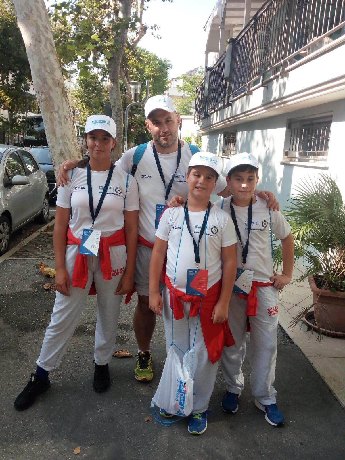 Mattia Lombardi e Matteo Pace dell'ASD Kuro Obi alla fase nazionale del Trofeo Coni