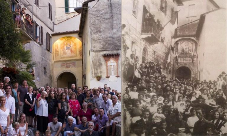 Restaurata la porta del castello di Monteggiori