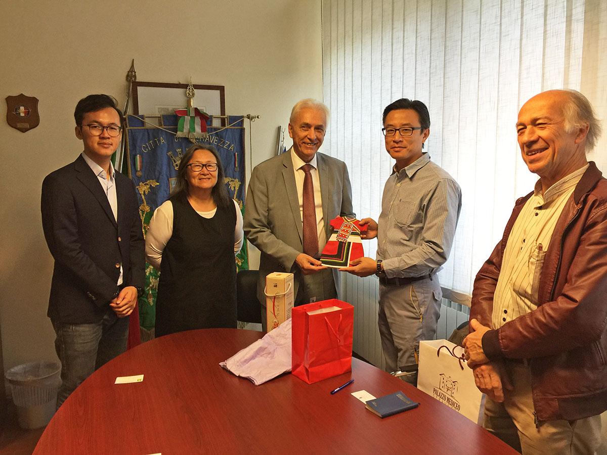 Lapideo, il sindaco Tarabella riceve la delegazione del Taiwan