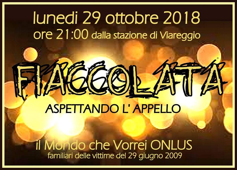 Strage di Viareggio, fiaccolata aspettando l'Appello: era un lunedi anche quella tragica notte