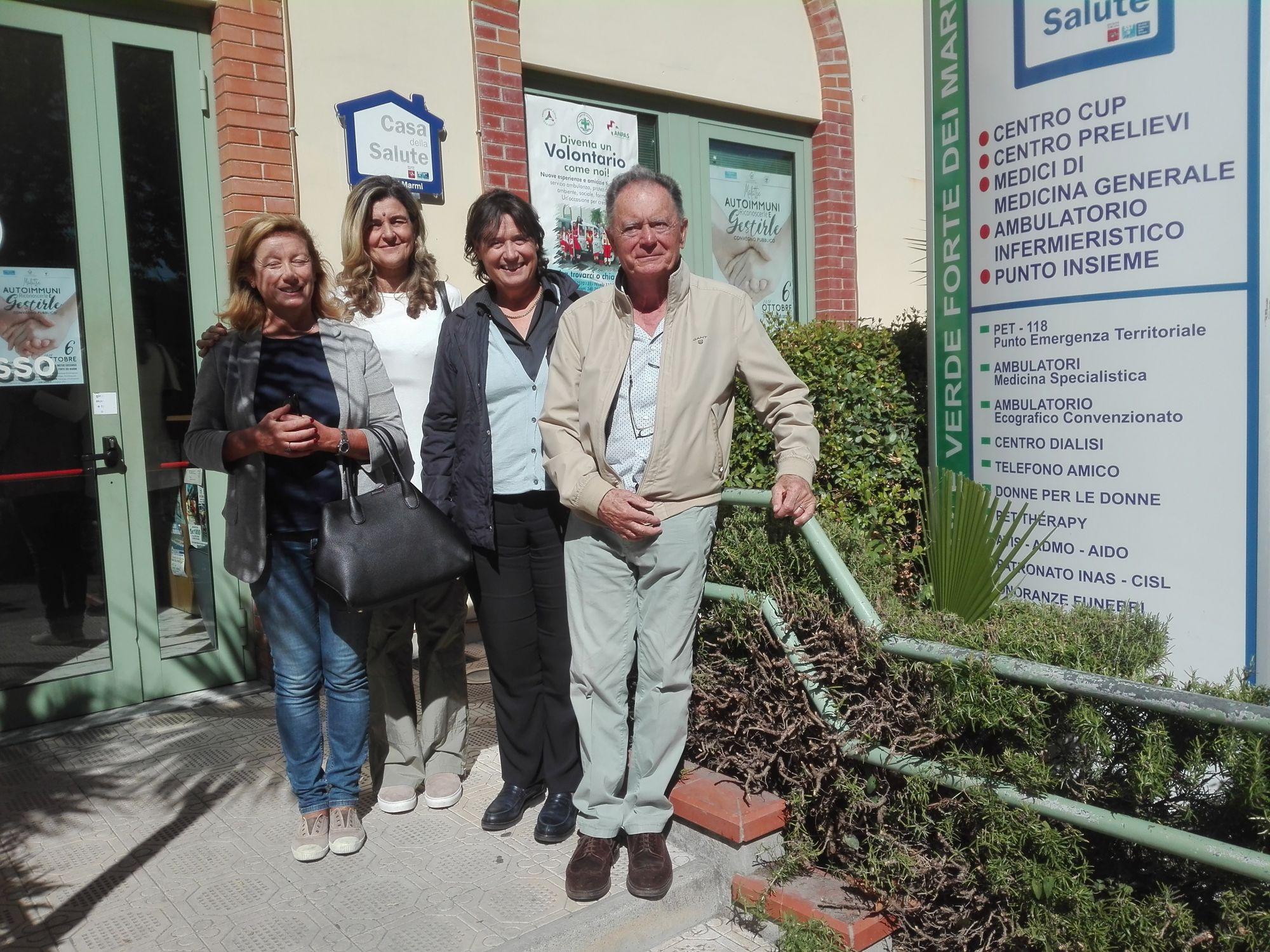 L'assessore Stefania Saccardi in visita alla Croce Verde di Forte dei Marmi