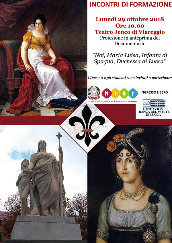"""""""Noi, Maria Luisa, Infanta di Spagna, Duchessa di Lucca"""", anteprima al teatro Jenco"""