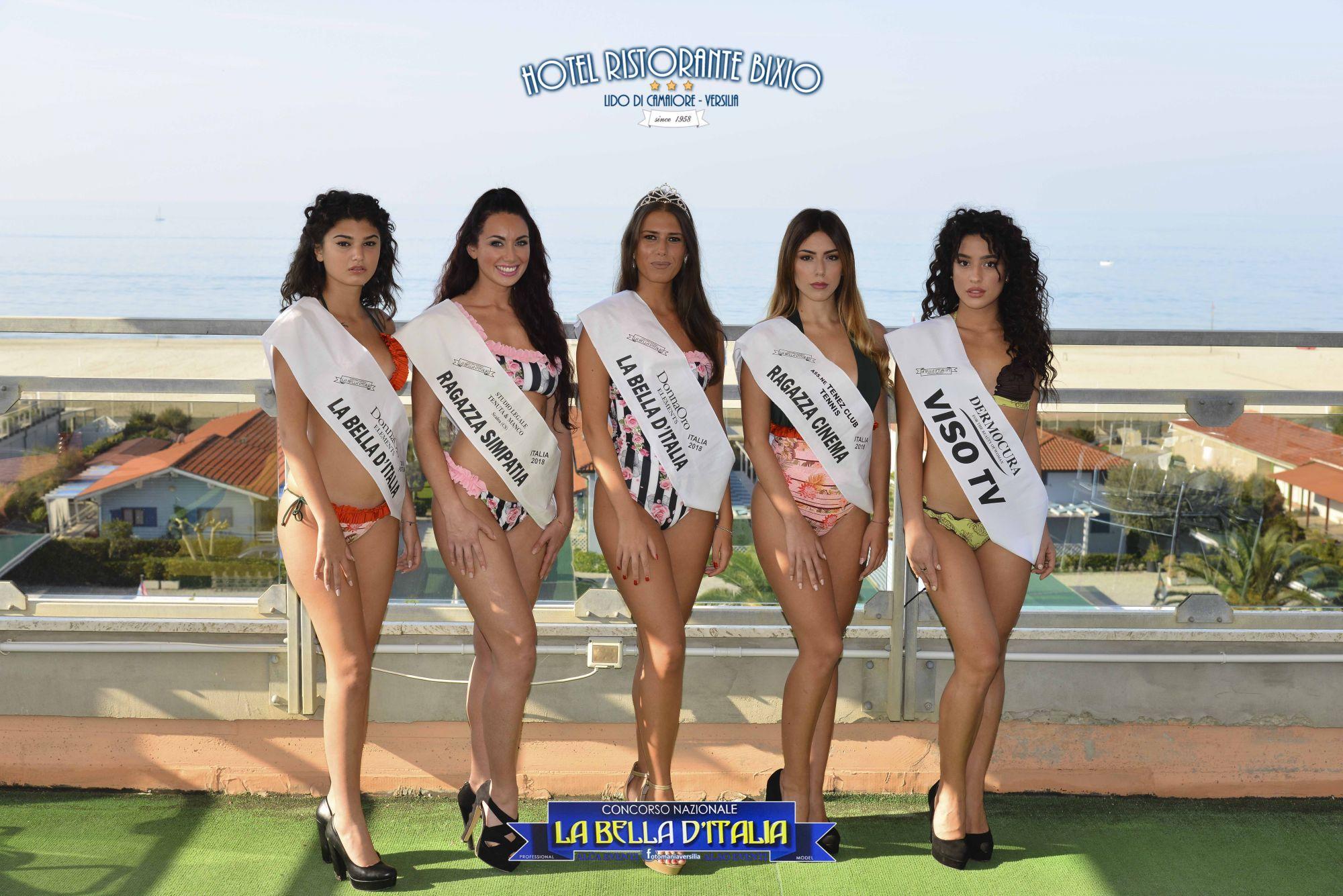 Modelle in Versilia per il calendario de La Bella d'Italia