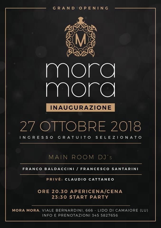 Movida, tutto pronto per il grande ritorno del Mora Mora