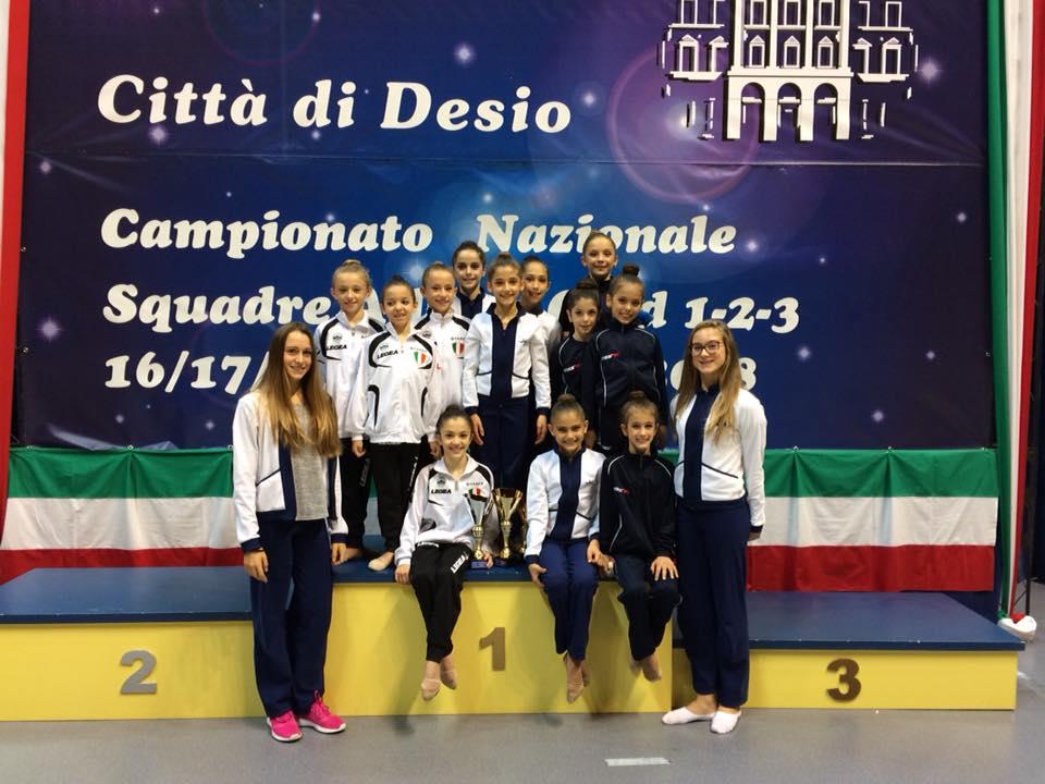 Ginnastica Motto campione d'Italia tra le Allieve Gold 3
