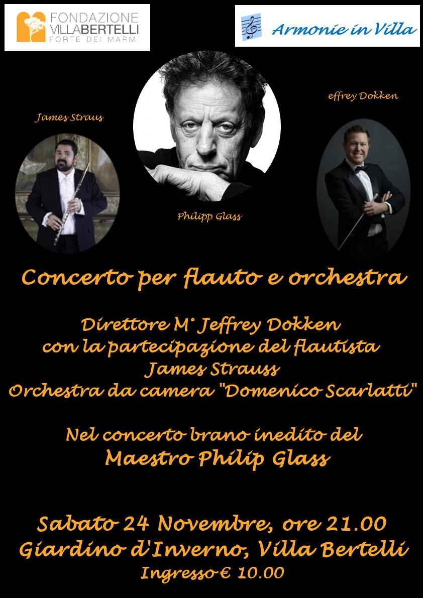 Anteprima mondiale con la musica di Philip Glass  a Villa Bertelli