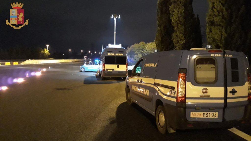 Fatto di cocaina, fugge all'alt per evitare il drug-test: bloccato sulla Firenze Mare