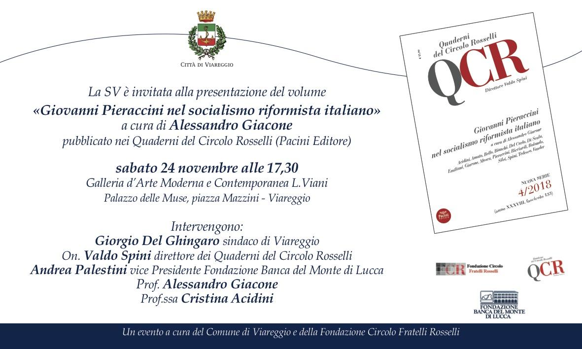 """""""Giovanni Pieraccini nel socialismo riformista italiano"""", il libro alla Gamc"""