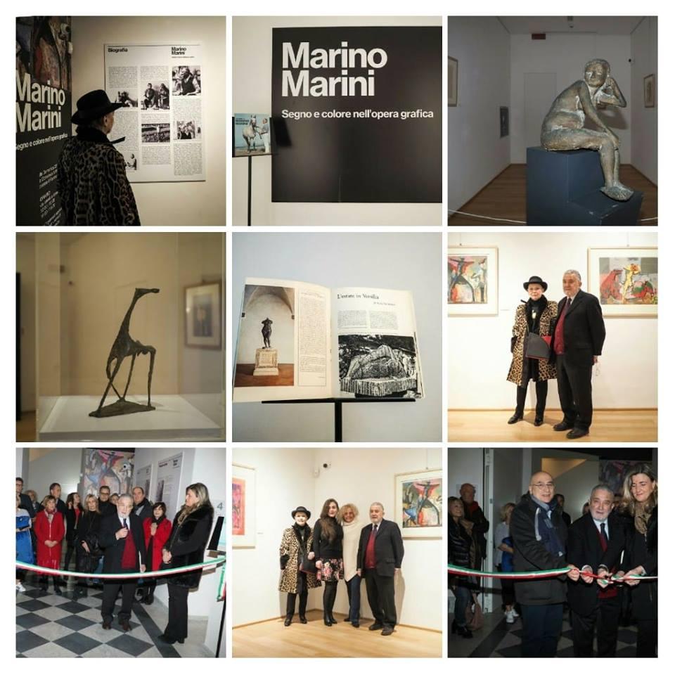 """Inaugurata ieri al Fortino la mostra """"Marino Marini, segno e colore nell'opera grafica"""""""