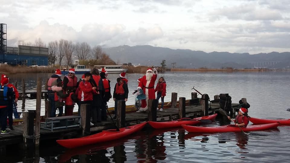 Babbo Natale sul Lago… arriva col barchino