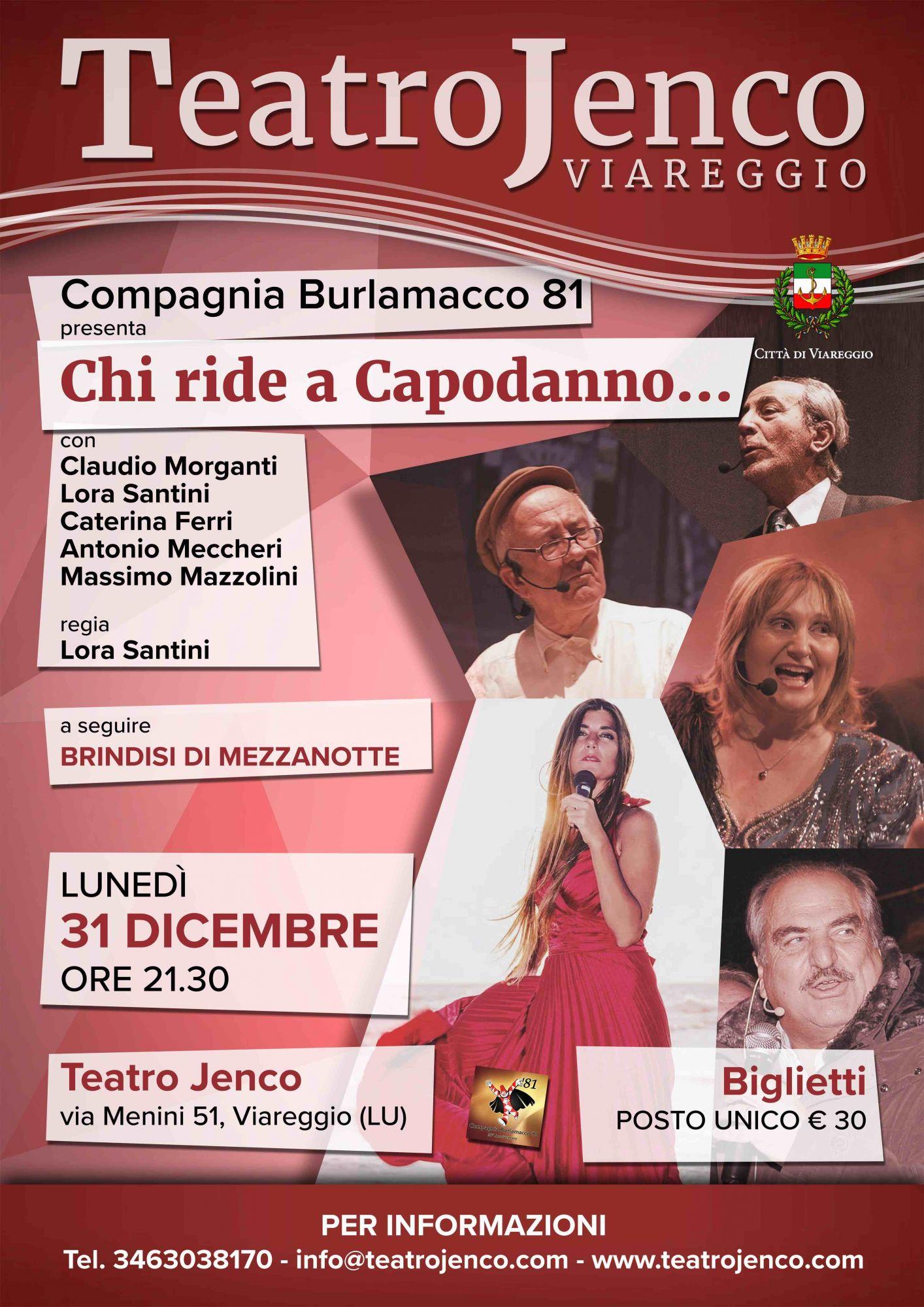 """""""Chi ride a Capodanno…"""", al Teatro Jenco sketch esilaranti e comicità"""