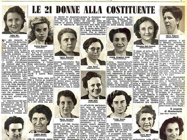 """""""Le costituenti"""", a Camaiore la mostra sulle 21 donne della Costituzione"""