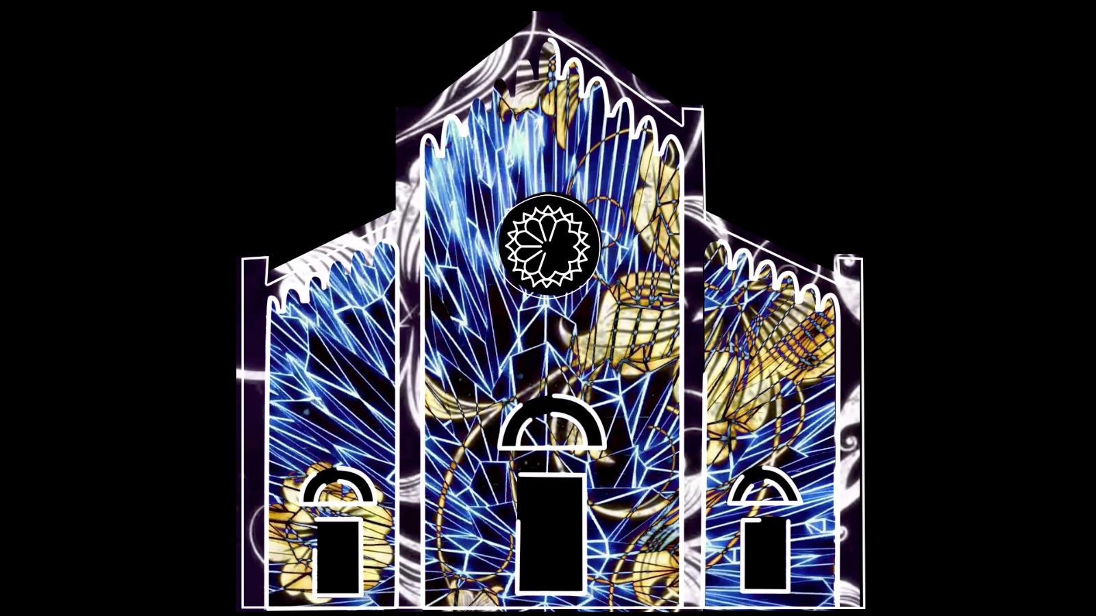 Natale: il Duomo di San Martino tra illusione e tridimensionale