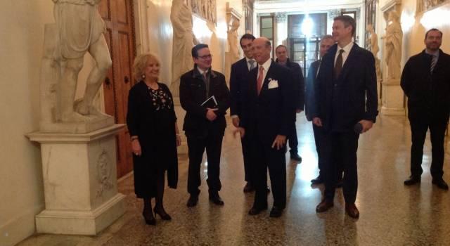 Visita in Prefettura a Lucca per Ambasciatore degli Stati Uniti d'America in Italia Lewis M. Eisenberg