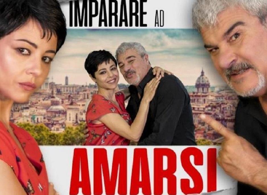 """Pino Insegno e Alessia Navarro  sul palco del Teatro Jenco con """"Imparare ad amarsi"""""""