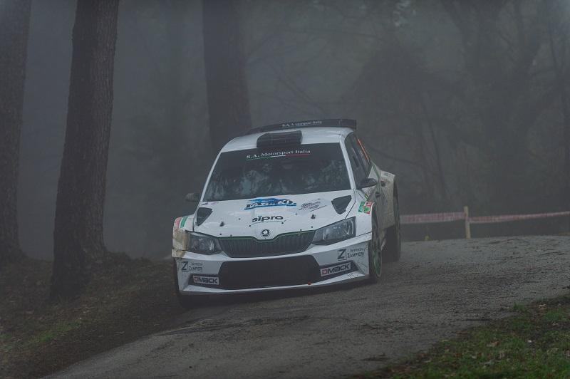 Umberto Scandola chiude in testa la prima tappa  del Ciocchetto Rally Event