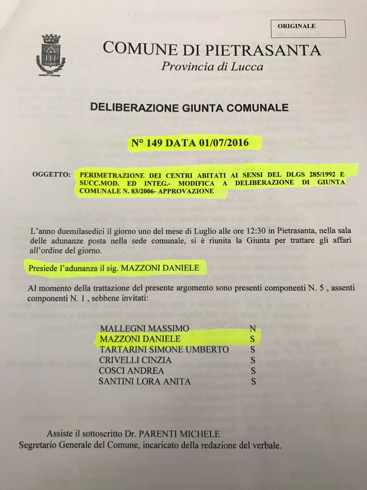 """Tartarini (Forza Italia): """"Mazzoni va in tv (Striscia la Notizia) ma omette che delibera chiave fu la sua…"""""""