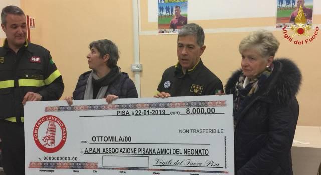 8mila euro dai Vigili del Fuoco alle famiglie dei bimbi nati prematuri o con patologie alla nascita e ricoverati al Santa Chiara