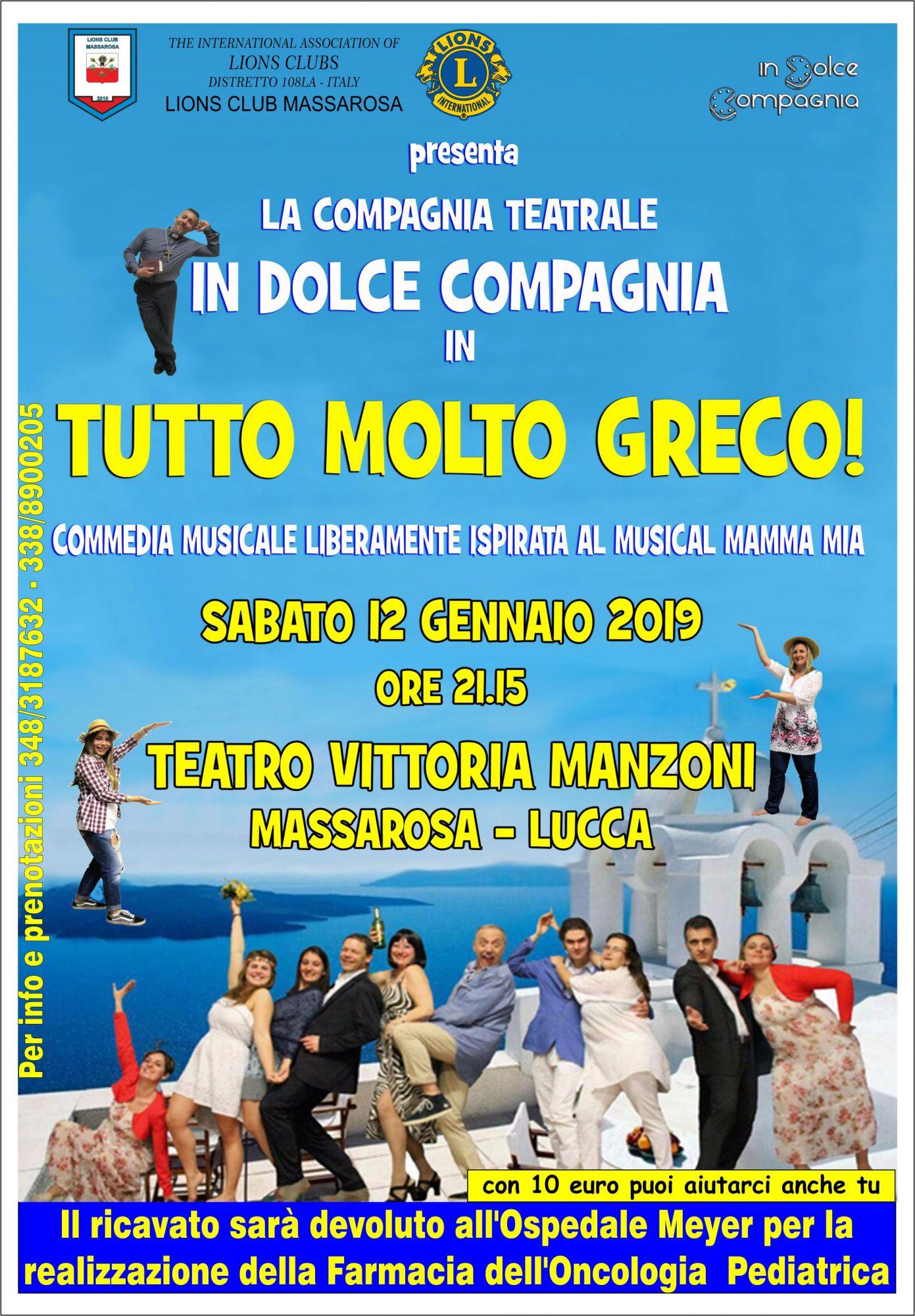 """""""Tutto molto greco"""", commedia musicale al Manzoni di Massarosa"""