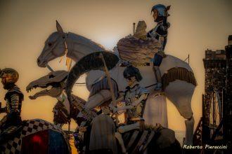 Cavalieri al tramonto