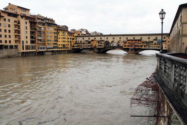 Si tuffa in Arno per fuggire, salvato da un poliziotto esperto pallanuotista