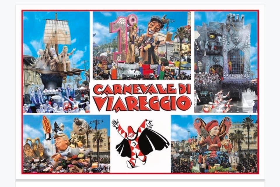 Valerio Vespignani firma le cartoline ufficiali del Carnevale di Viareggio 2019