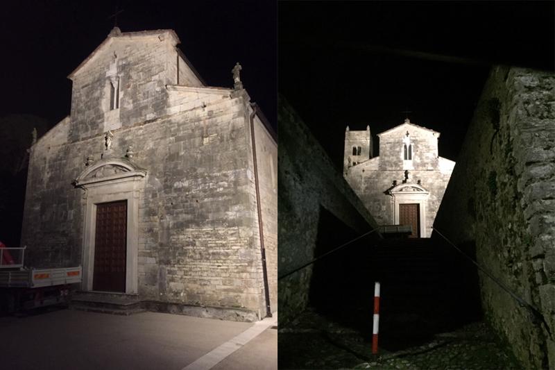 Nuovo impianto di illuminazione monumentale della Pieve di Santo Stefano